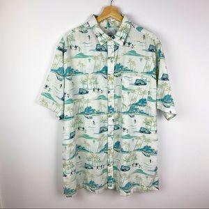 Croft & Borrow Hawaiian Shirt Surfers Chevy XLT